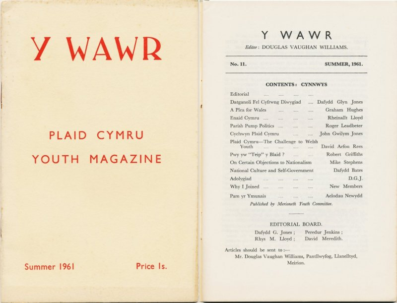 1961 Y Wawr Youth Magazine