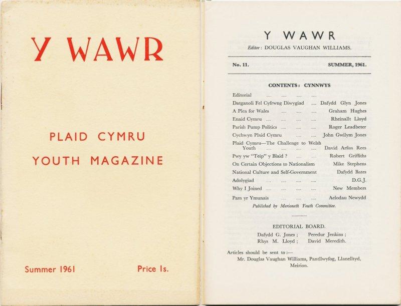 1961 Y Wawr Youth Magazine