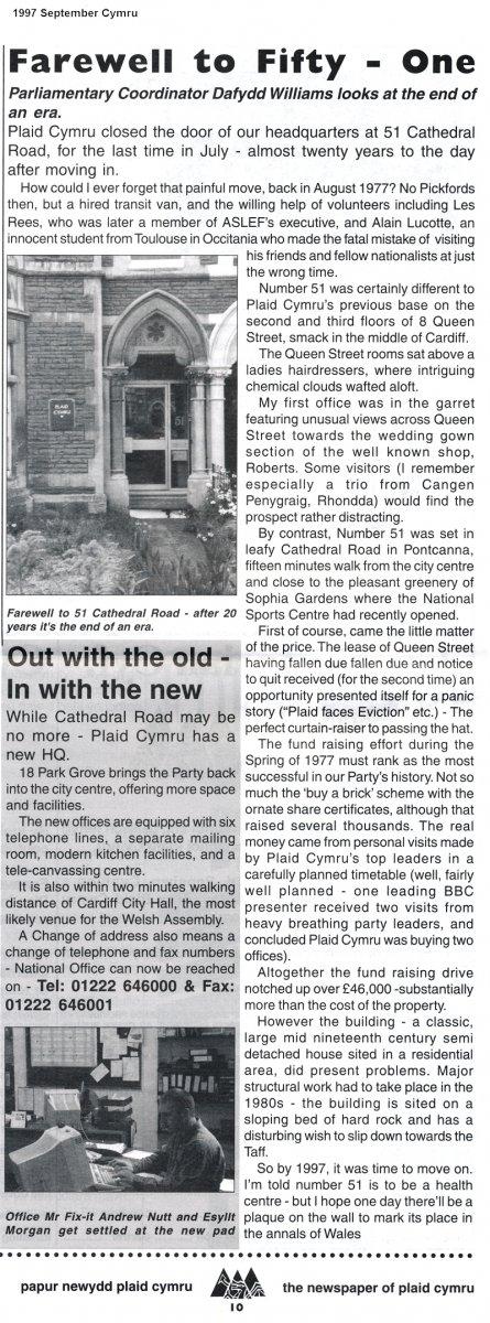 1997m09 Plaid Cymru Offices