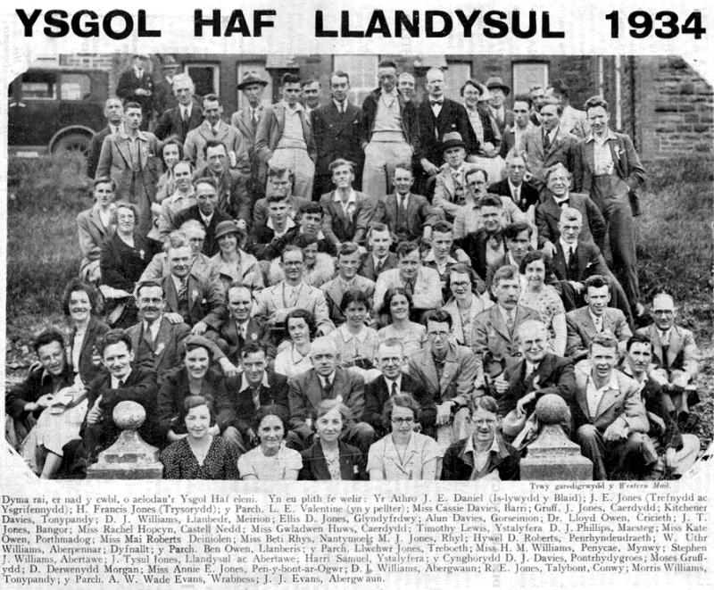 1934 Ysgol Haf Llandysul