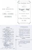 1926 Ysgol Haf Rhaglen