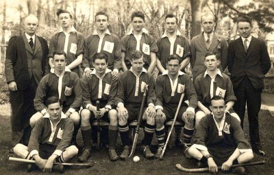 Gwynfor, capten Tîm Hoci'r YsgolGwynfor, captain of the school hockey team