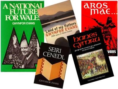 Rhai o lyfrau niferus GwynforA few of Gwynfor's many books
