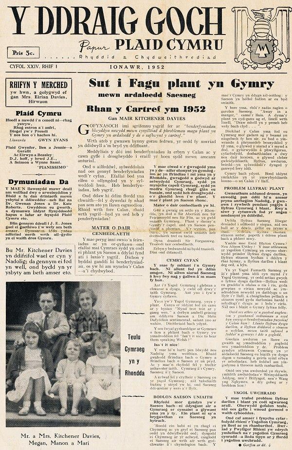 1952m01 Y Draig Goch